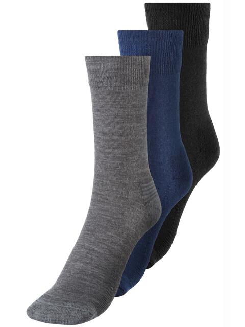 Devold Daily Medium Socks Men 3er Pack Indigo Mix